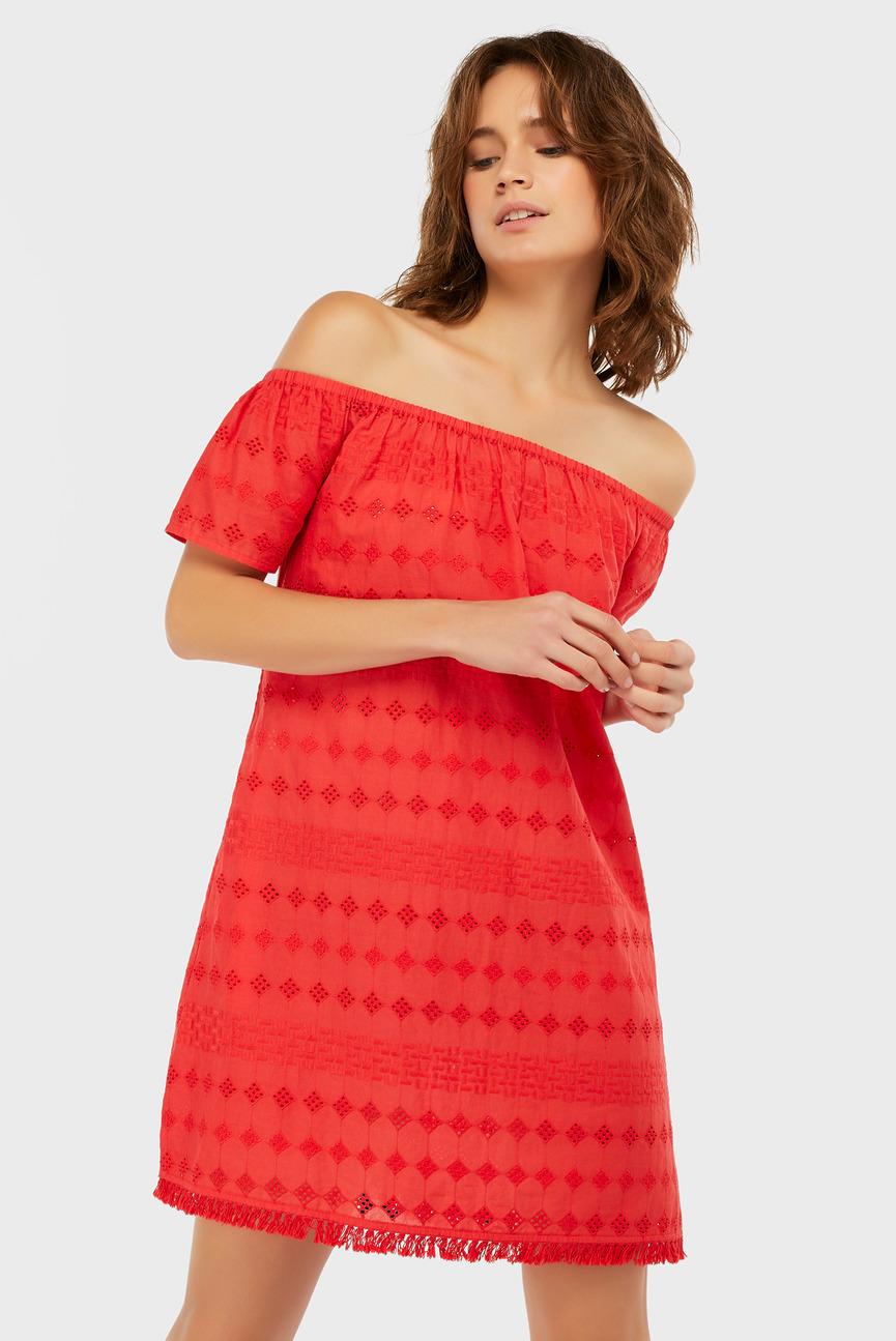 Женское красное платье Off Shoulder