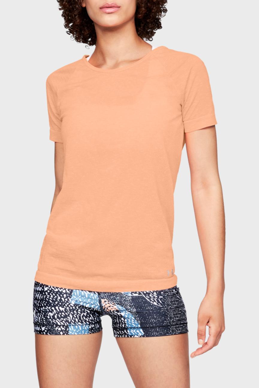 Женская коралловая футболка TB Seamless Spacedye SS