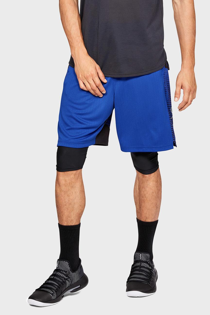 Мужские синие шорты UA BASELINE PRACTICE SHORT