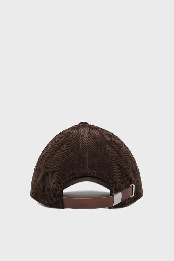 Мужская коричневая вельветовая кепка D1. CORDUROY