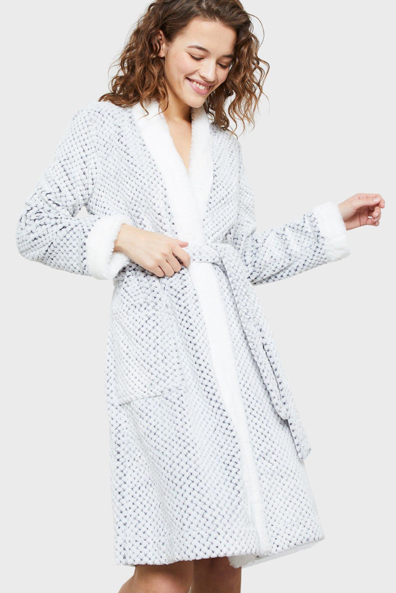 Женский серый халат CREAM 1