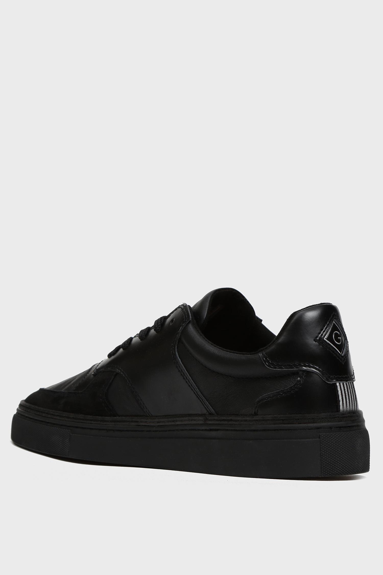 Мужские черные кожаные сникеры DENVER Gant
