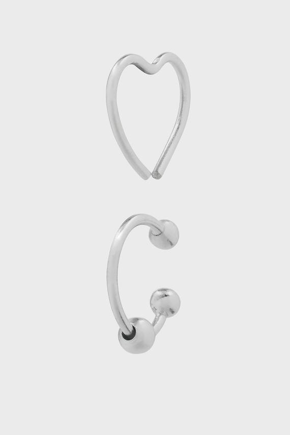 Женские серебряные серьги для пирсинга CARTILIDGE (2 шт)