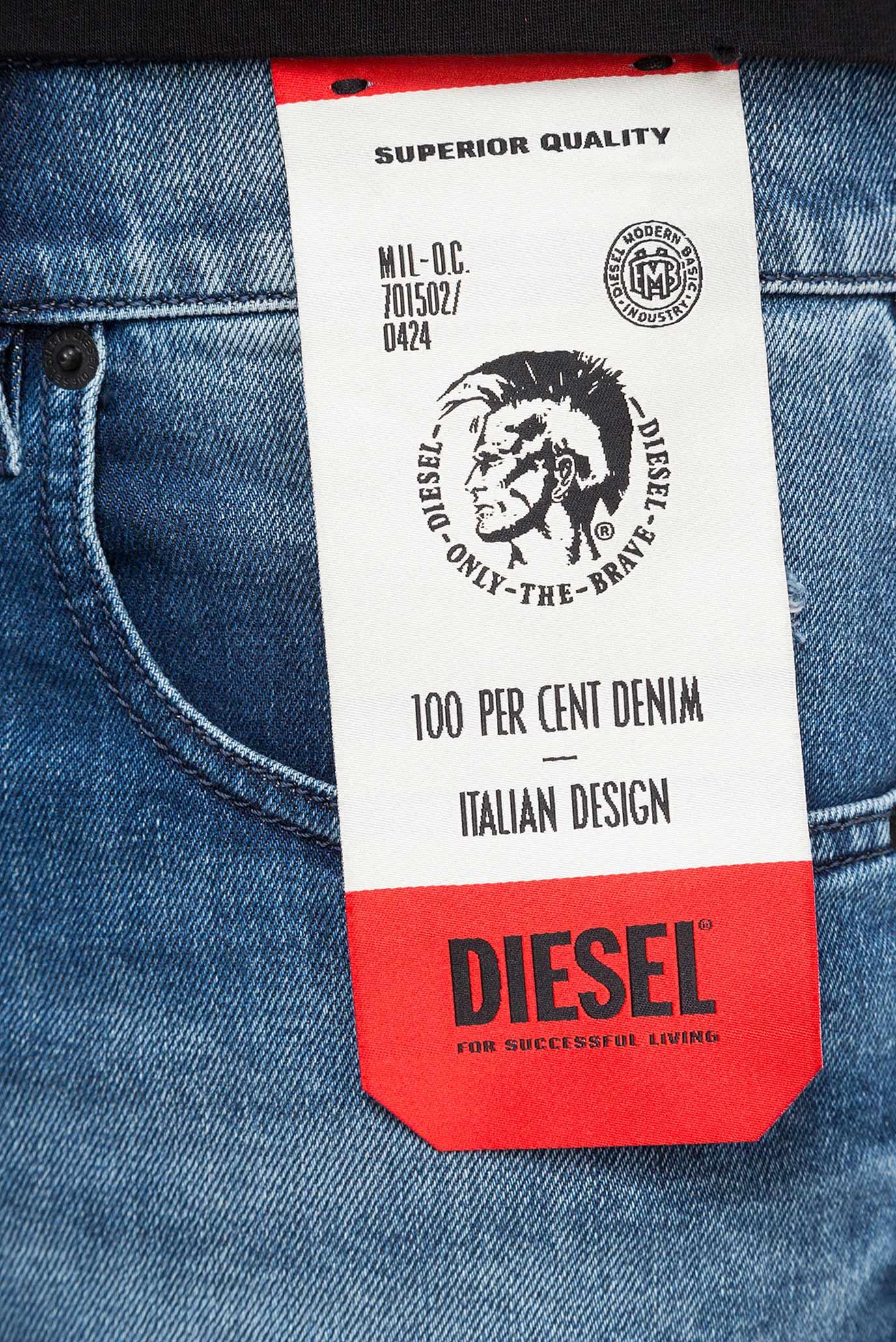 Купить Мужские синие джинсы D-STRUKT Diesel Diesel 00SPW5 081AQ – Киев, Украина. Цены в интернет магазине MD Fashion