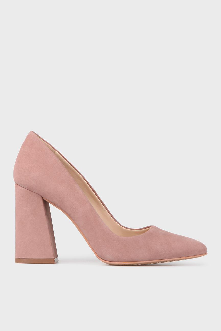 Женские розовые кожаные туфли