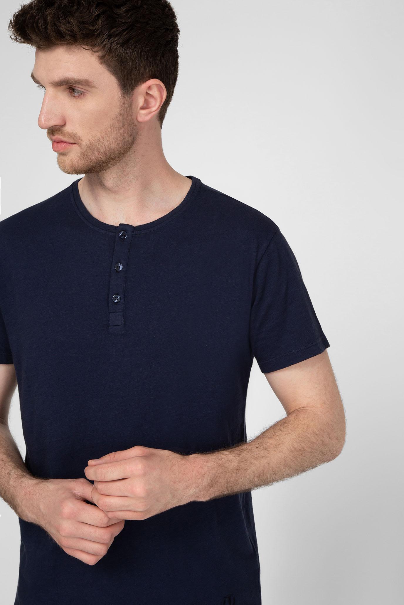 Мужская темно-синяя футболка SLUB FADE Trussardi Jeans