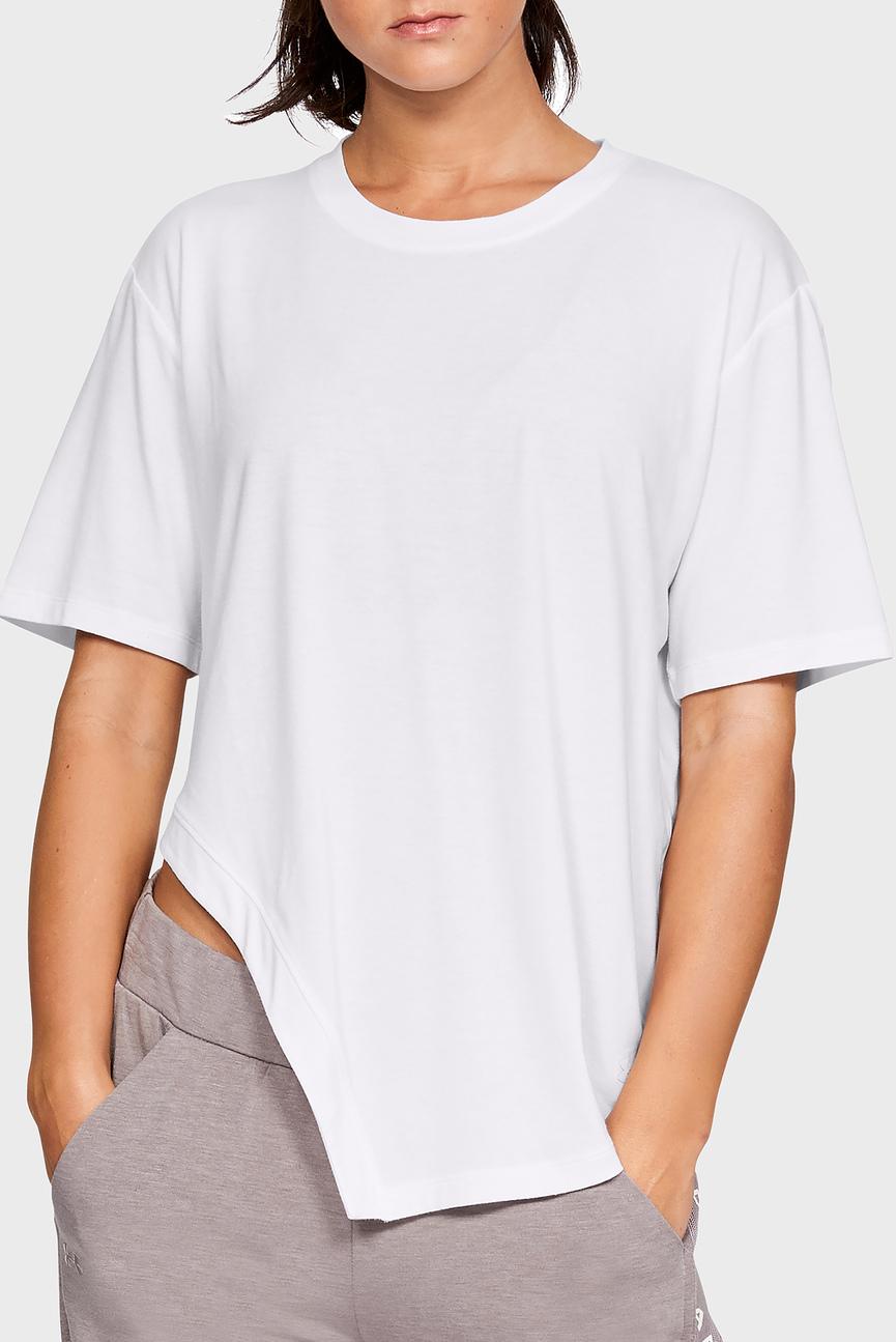 Женская белая футболка DO WORK ASYM SS