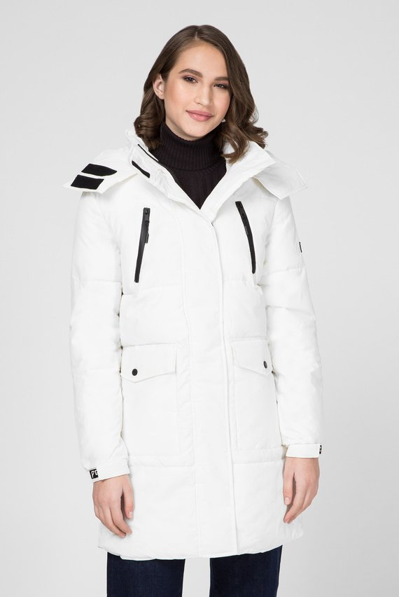 Женская белая удлиненная куртка NATT