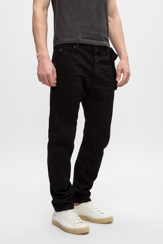 Мужские черные джинсы Type C 3D Straight aux