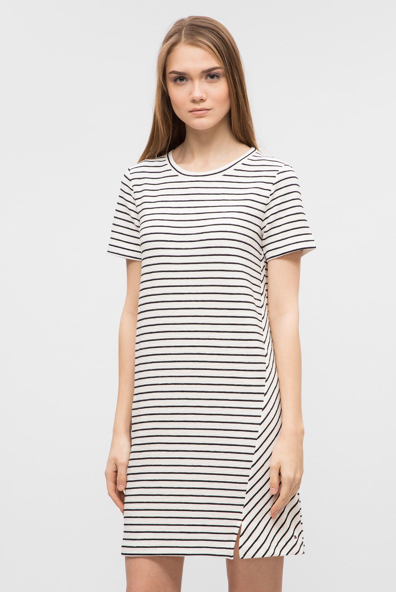 Купить Женское белое платье в полоску Tommy Hilfiger Tommy Hilfiger  WW0WW21817 – Киев 735835dbe7c01