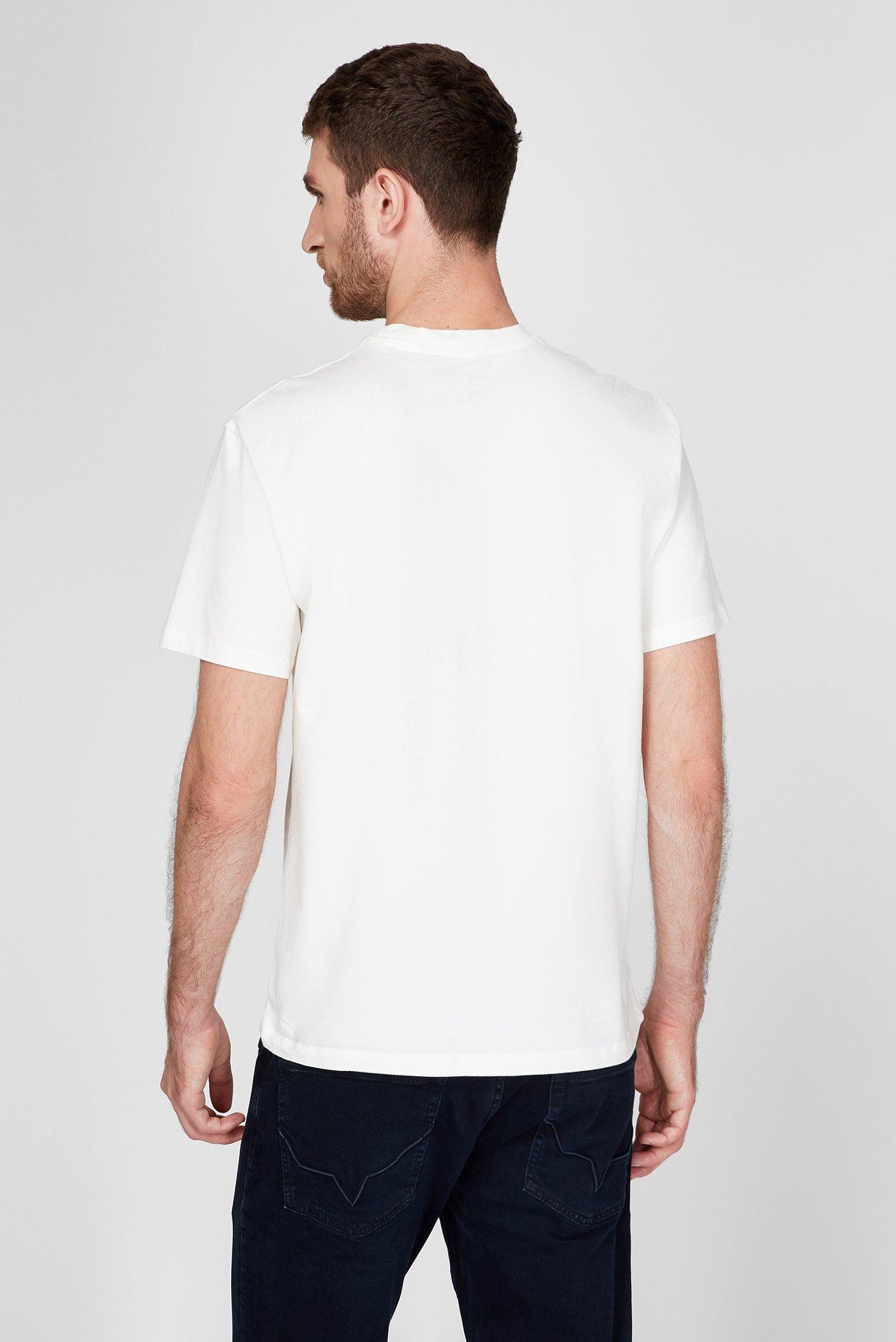 Мужская белая футболка REGULAR FIT Trussardi Jeans