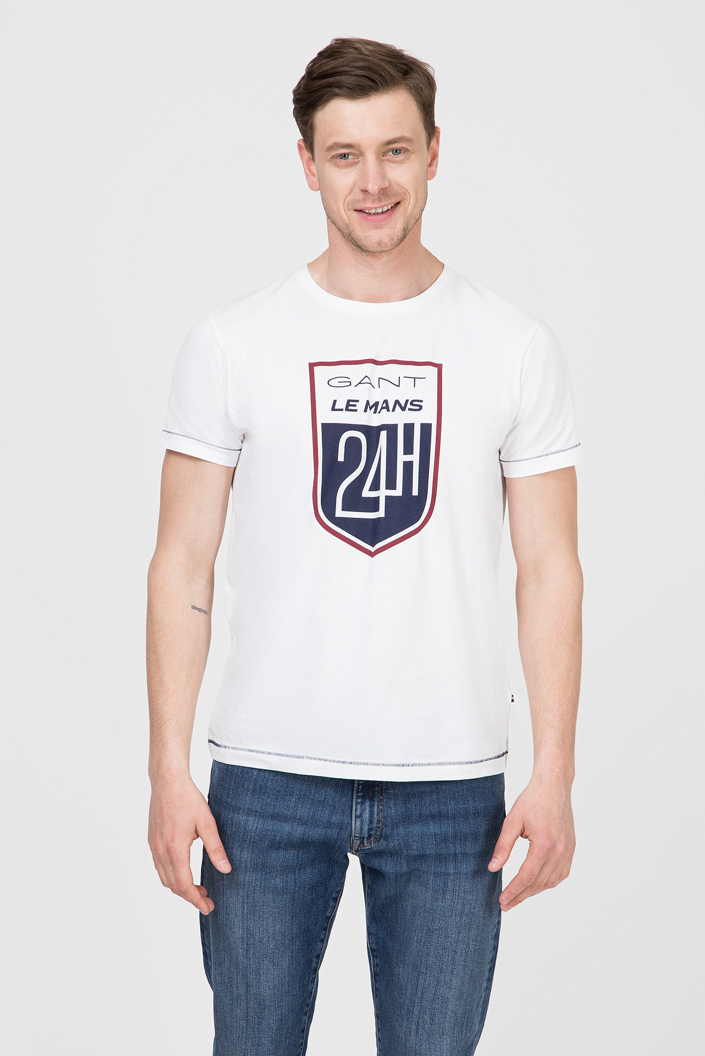 Купить Мужская белая футболка LM Gant Gant 2003047 – Киев, Украина. Цены в интернет магазине MD Fashion