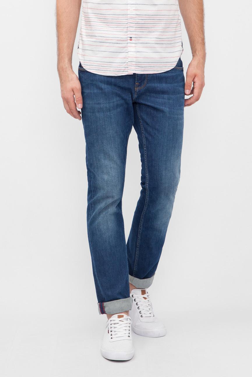 Мужские синие джинсы RU-DENTON STR BOCA INDIGO