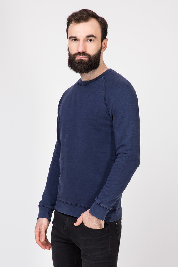 Мужской темно-синий лонгслив