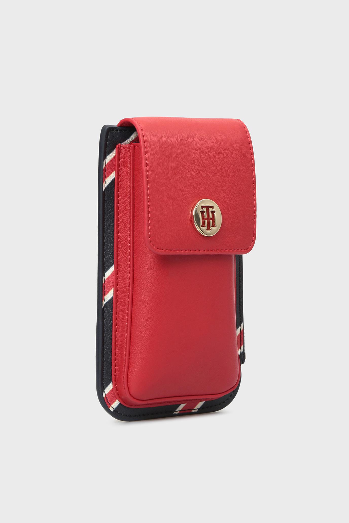 Купить Женская красная сумка-чехол для телефона IDENTITY PHONE POUCH Tommy Hilfiger Tommy Hilfiger AW0AW05808 – Киев, Украина. Цены в интернет магазине MD Fashion