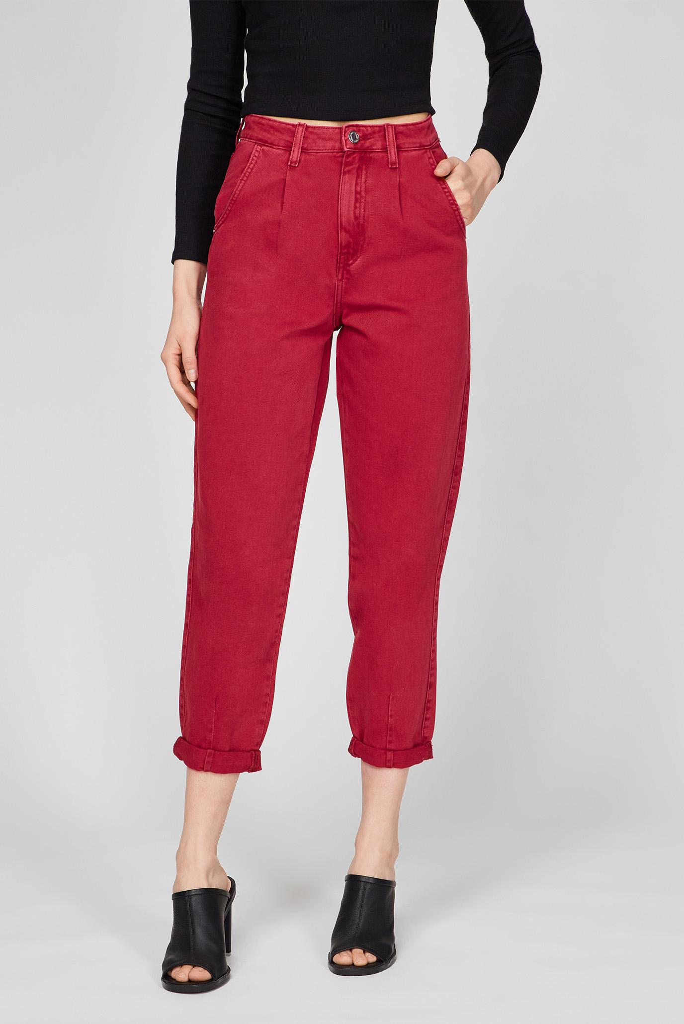 Жіночі бордові джинси 1