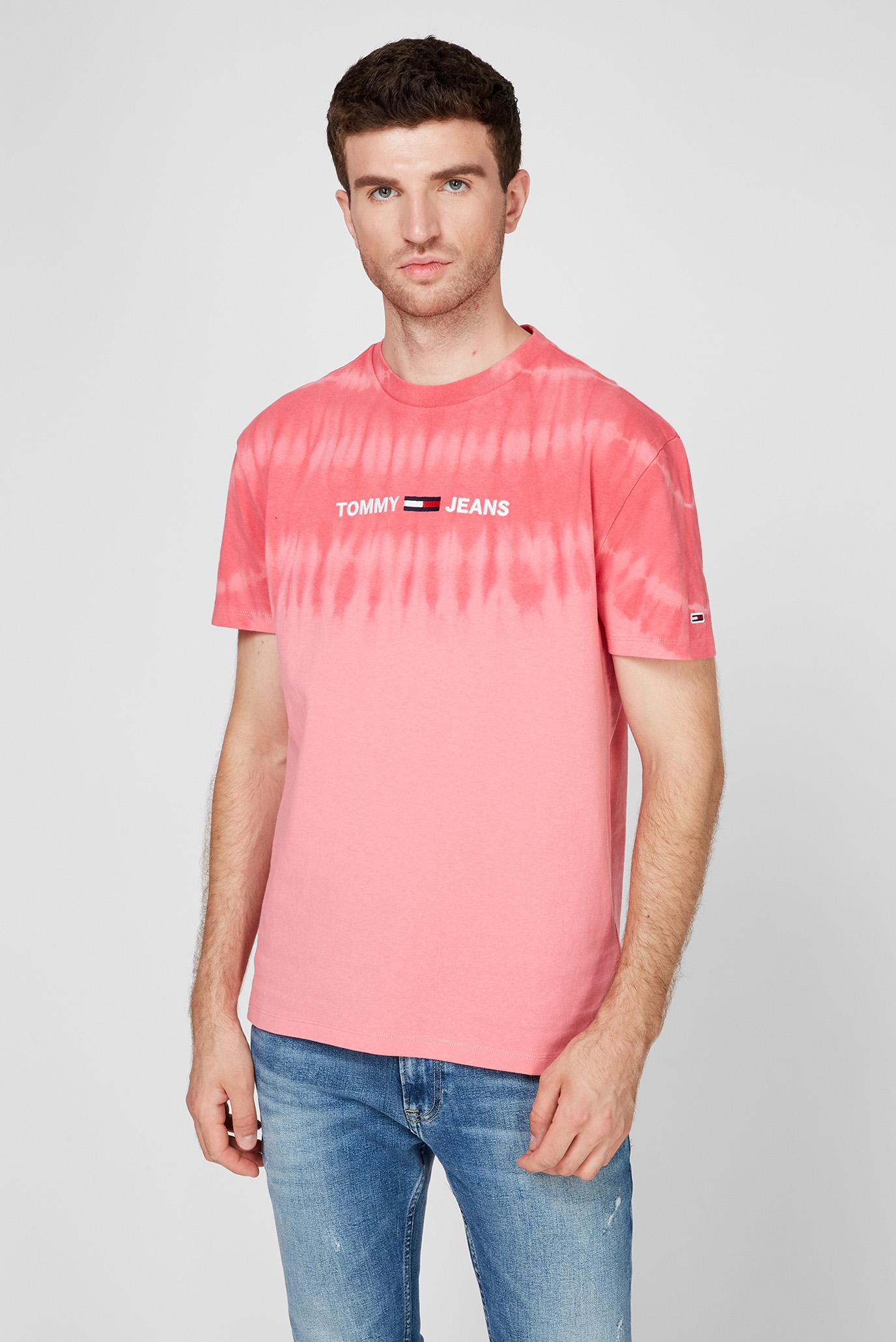 Мужская розовая футболка TJM TIE DYE 1