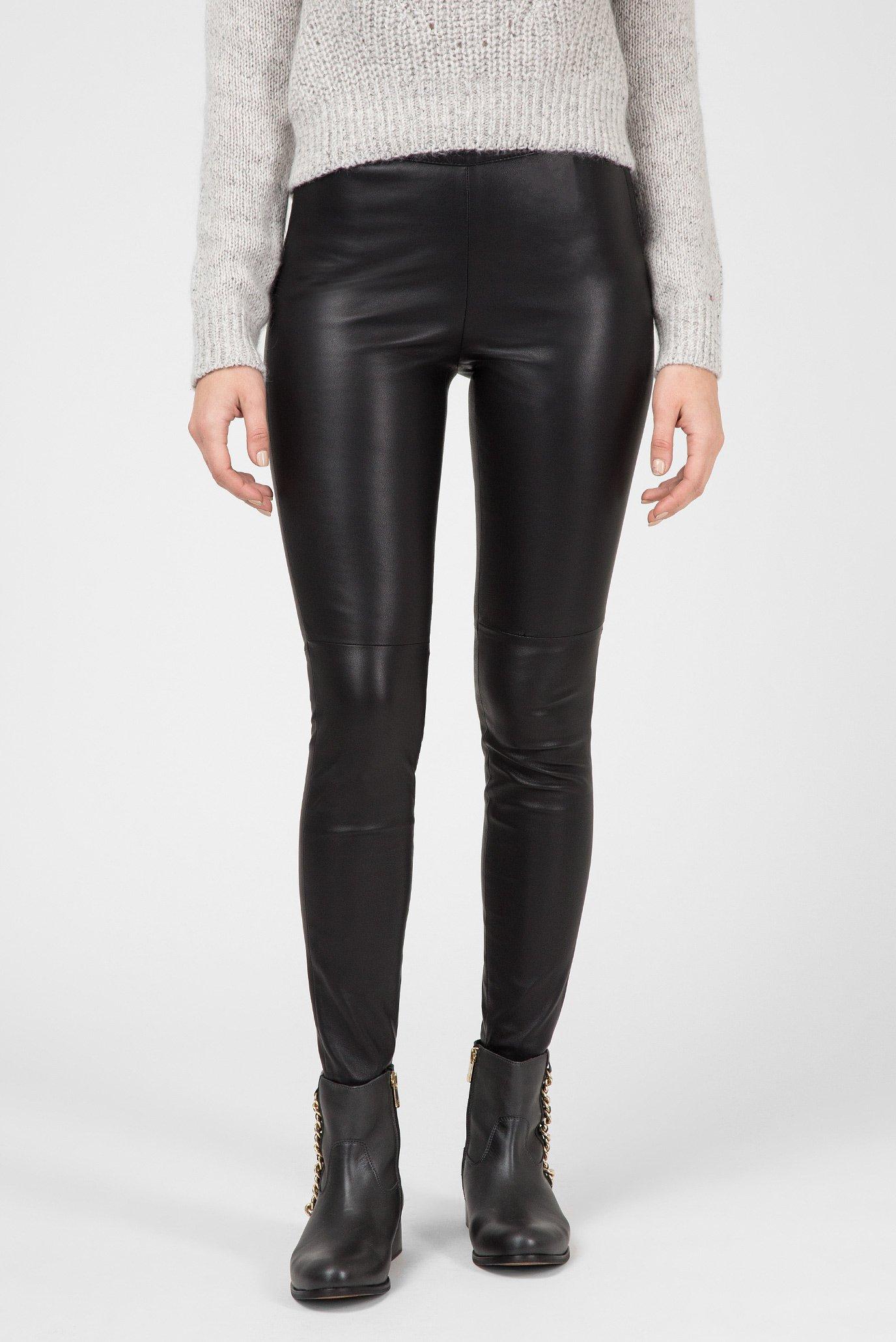 Купить Женские черные кожаные брюки Tommy Hilfiger Tommy Hilfiger WW0WW20580 – Киев, Украина. Цены в интернет магазине MD Fashion