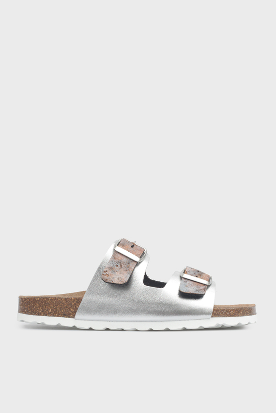 Женские серебристые сандалии