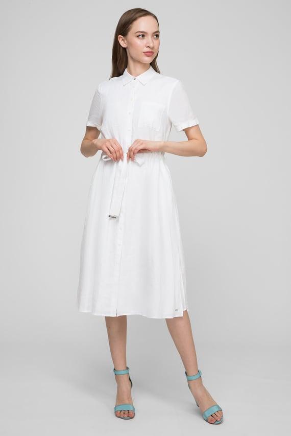 64a079704fecb97 Женское белое льняное платье-рубашка DAKOTA Tommy Hilfiger 5 890 грн