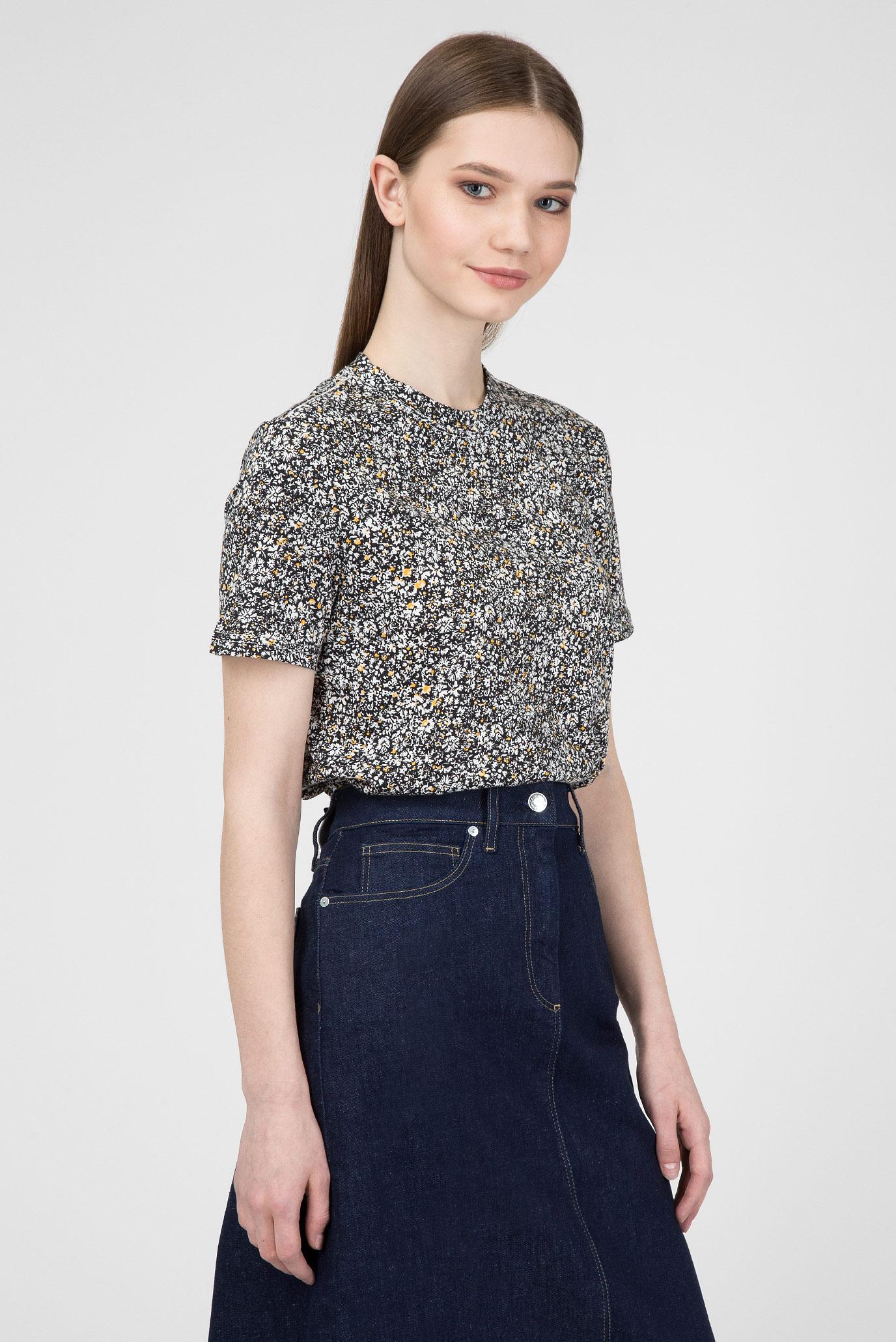 Женская футболка с принтом MINI FLORAL PRT T-SHIRT SS Calvin Klein