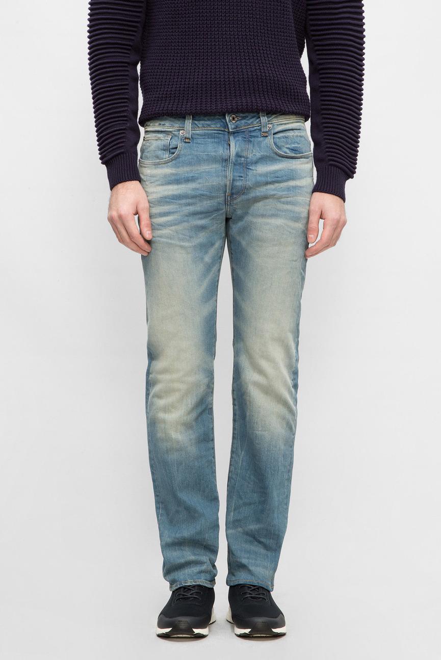 Мужские голубые джинсы Straight
