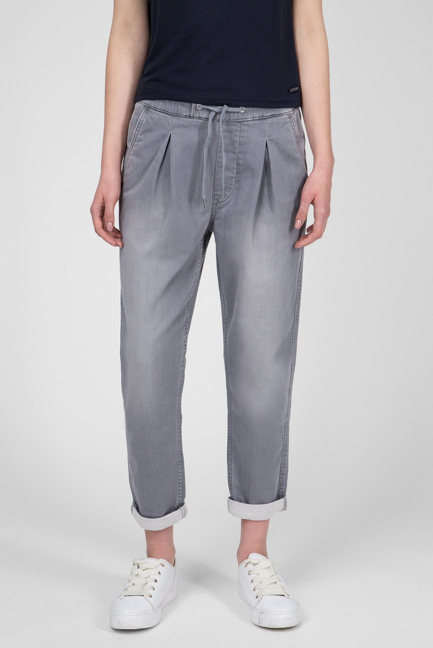 Женские светло-серые джинсы Donna