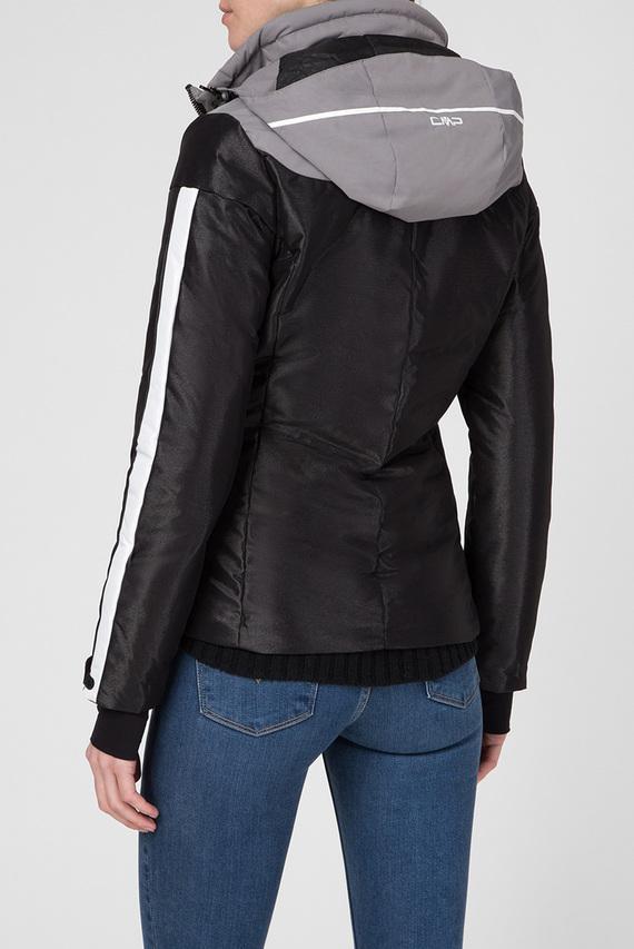 Женская черная лыжная куртка