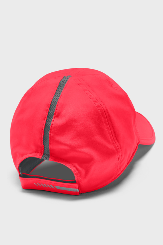 Красная кепка UA Run Shadow Cap-RED