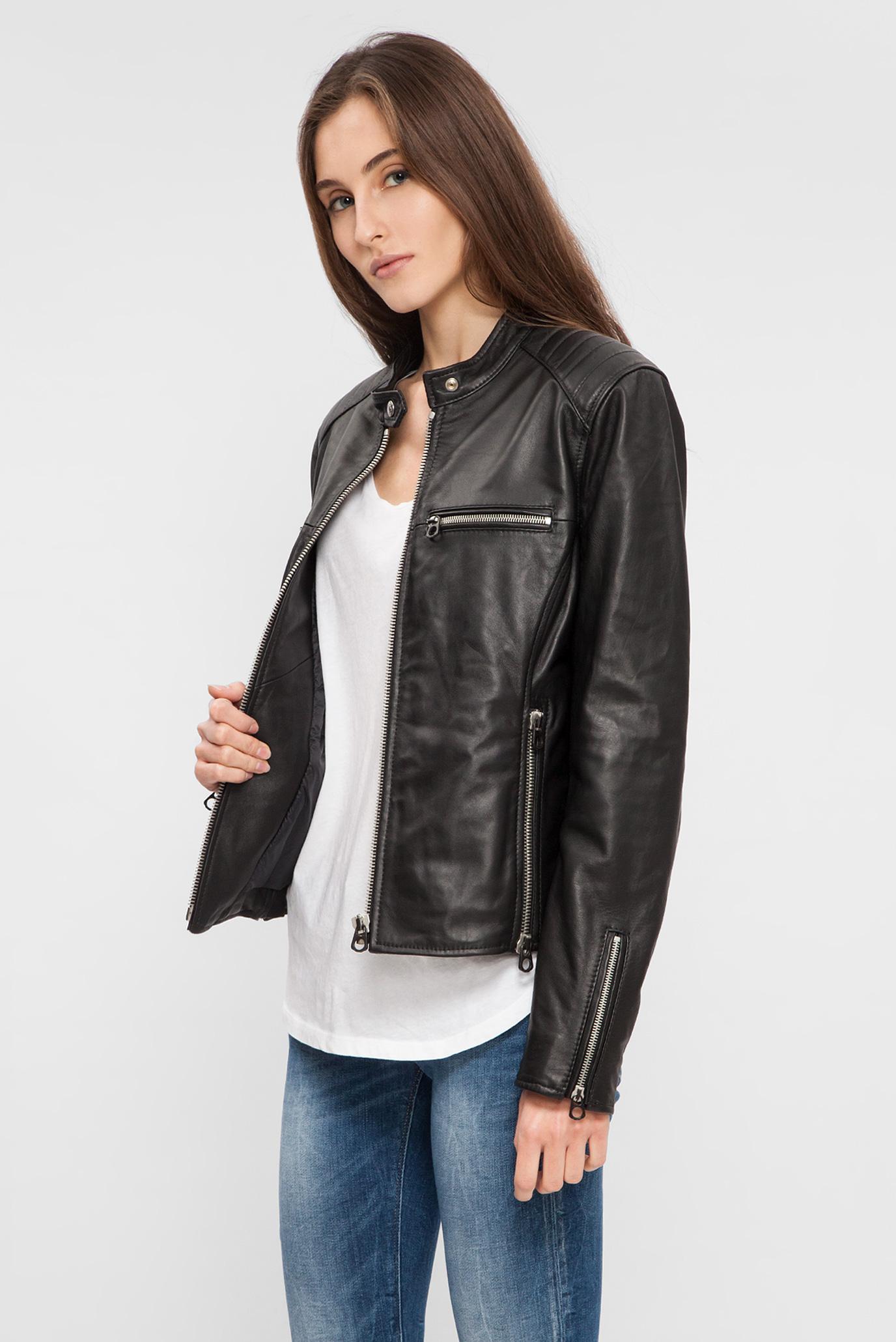 Купить Женская черная кожаная куртка Replay Replay W7402 .000.82926T –  Киев, Украина. Цены в интернет магазине ... 877e9a047e5