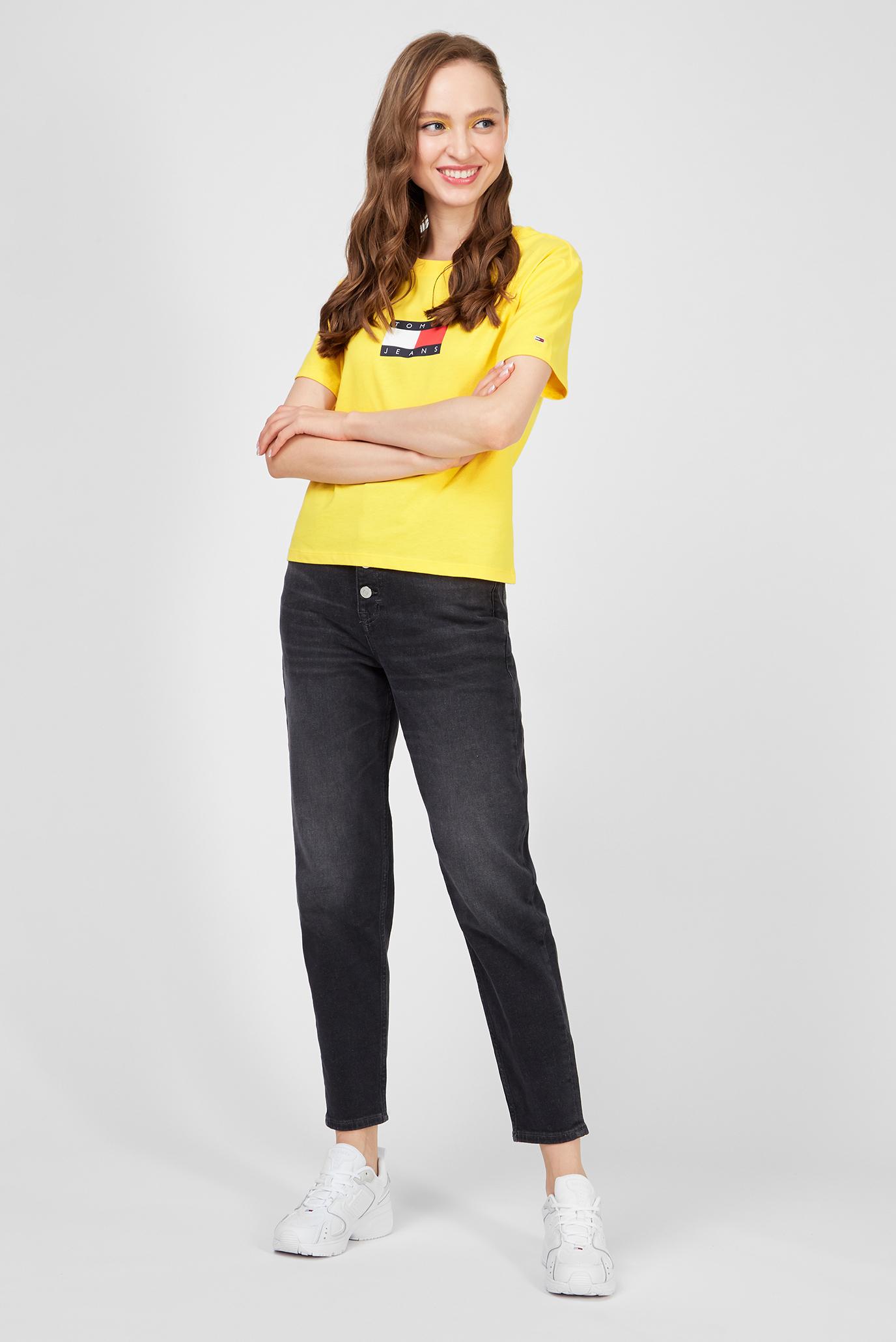 Женские черные джинсы MOM JEAN Tommy Jeans