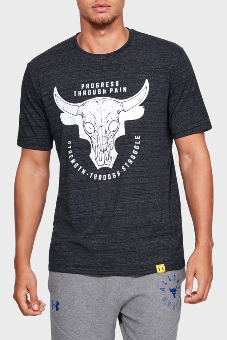 Мужская черная футболка PROJECT ROCK PTP STS TEE