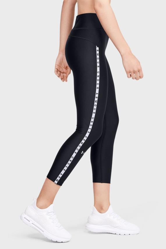 Женские черные капри UA HG Armour Vertical Branded Ankle Crop