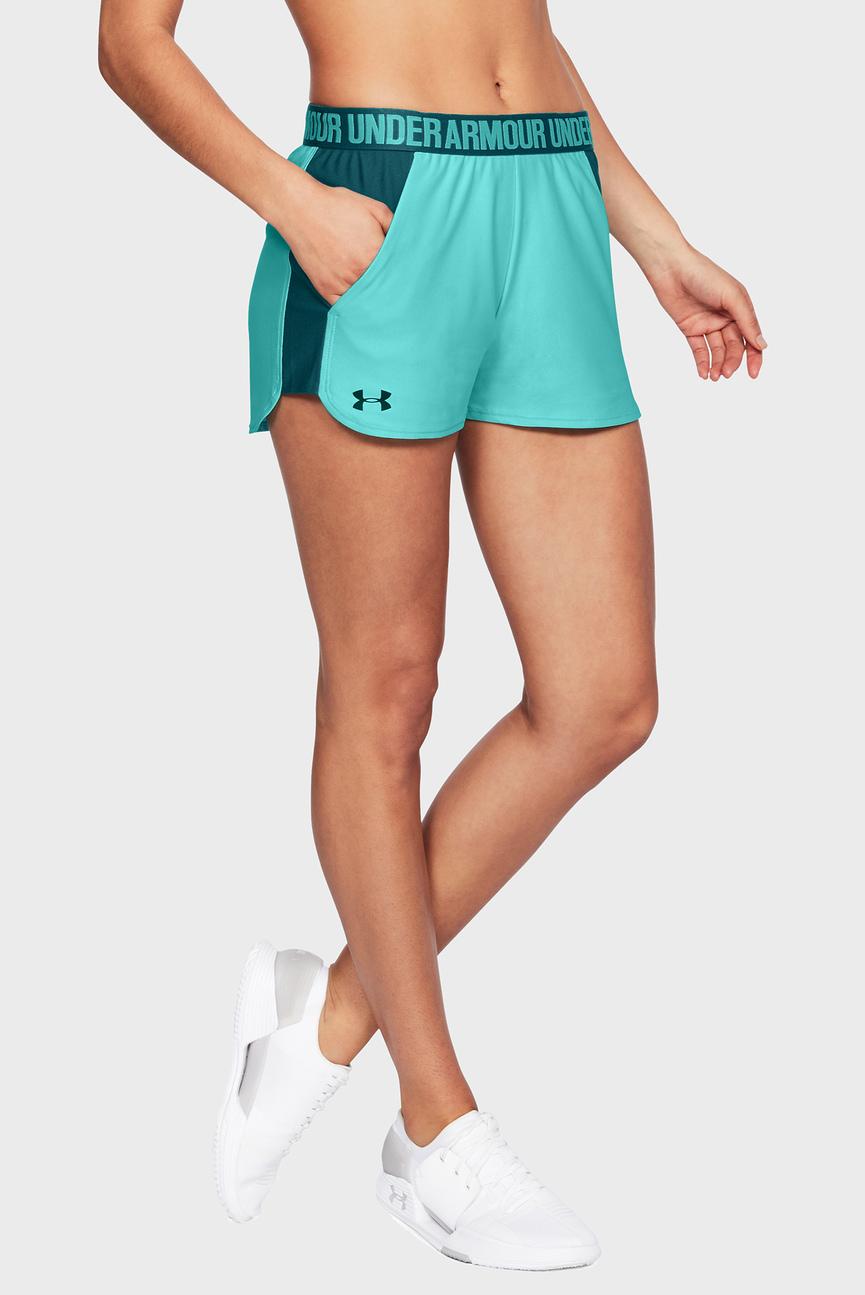 Женские бирюзовые шорты Play Up Short 2.0