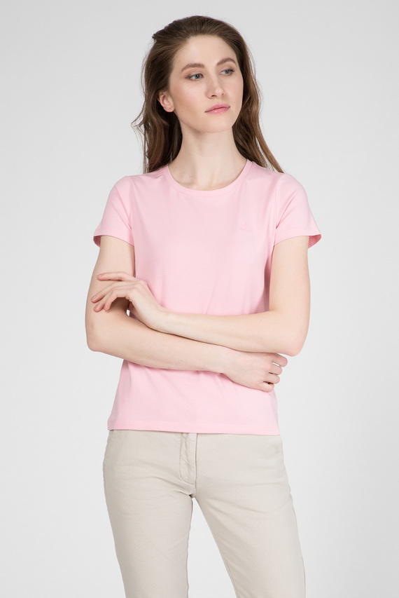 Женская розовая футболка ARCH LOGO CAPSLEEVE