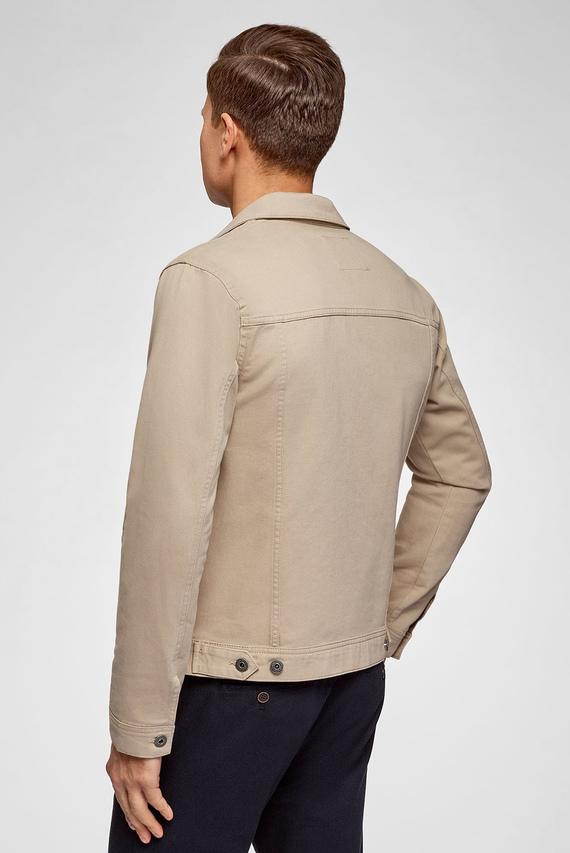 Мужская бежевая джинсовая куртка