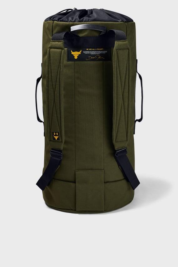 Мужской зеленый рюкзак UA Project Rock 90 Gym Bag-GRN
