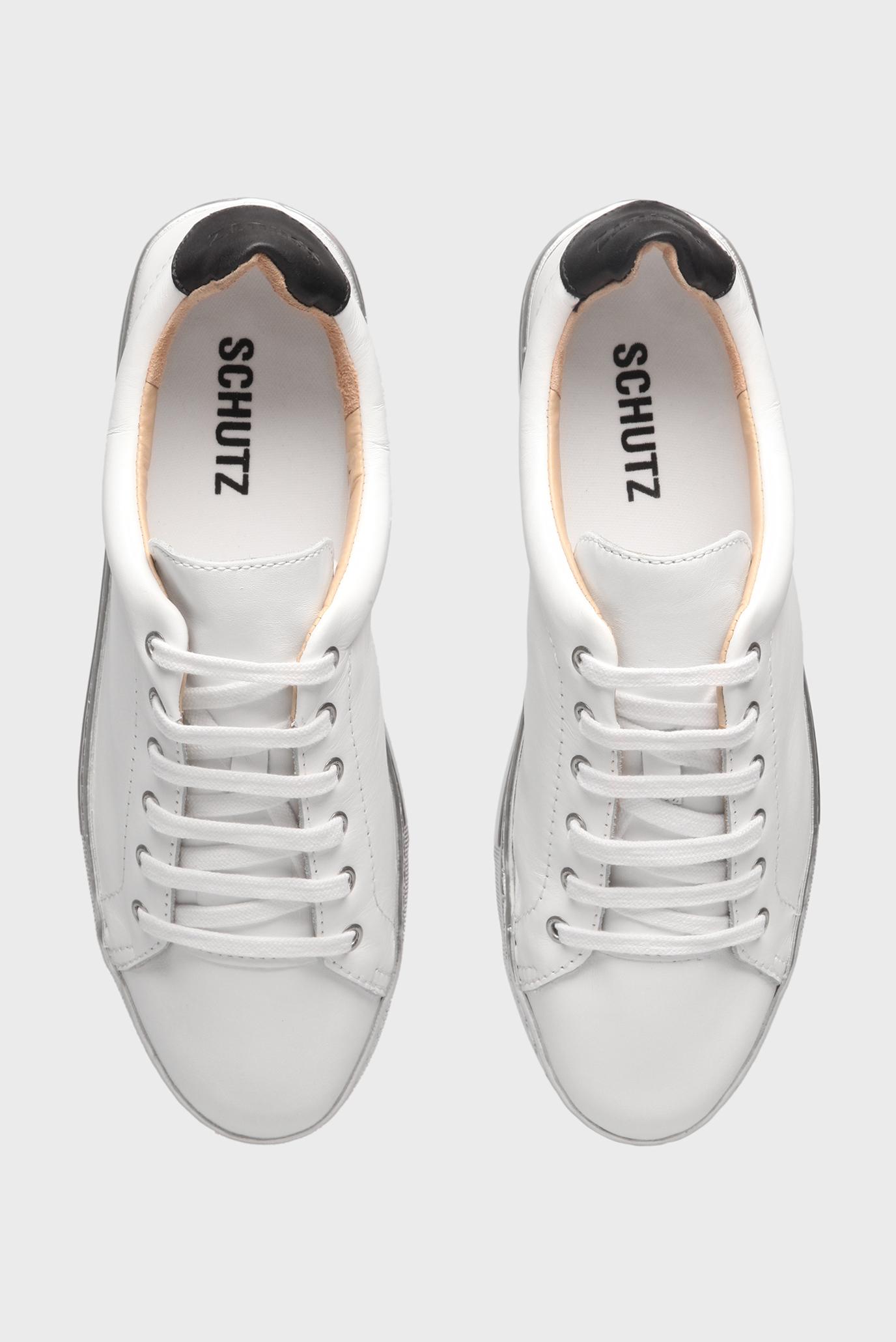 Купить Женские белые кожаные кеды Schutz Schutz S2016600050004U – Киев c623dff5305ee