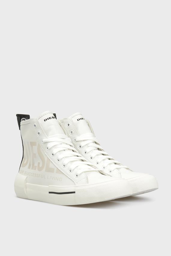 Мужские белые кожаные хайтопы S-DESE