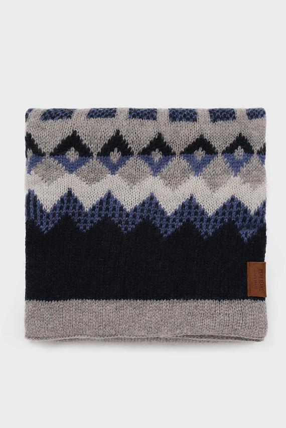 Мужской серый шарф с орнаментом ANTUCO