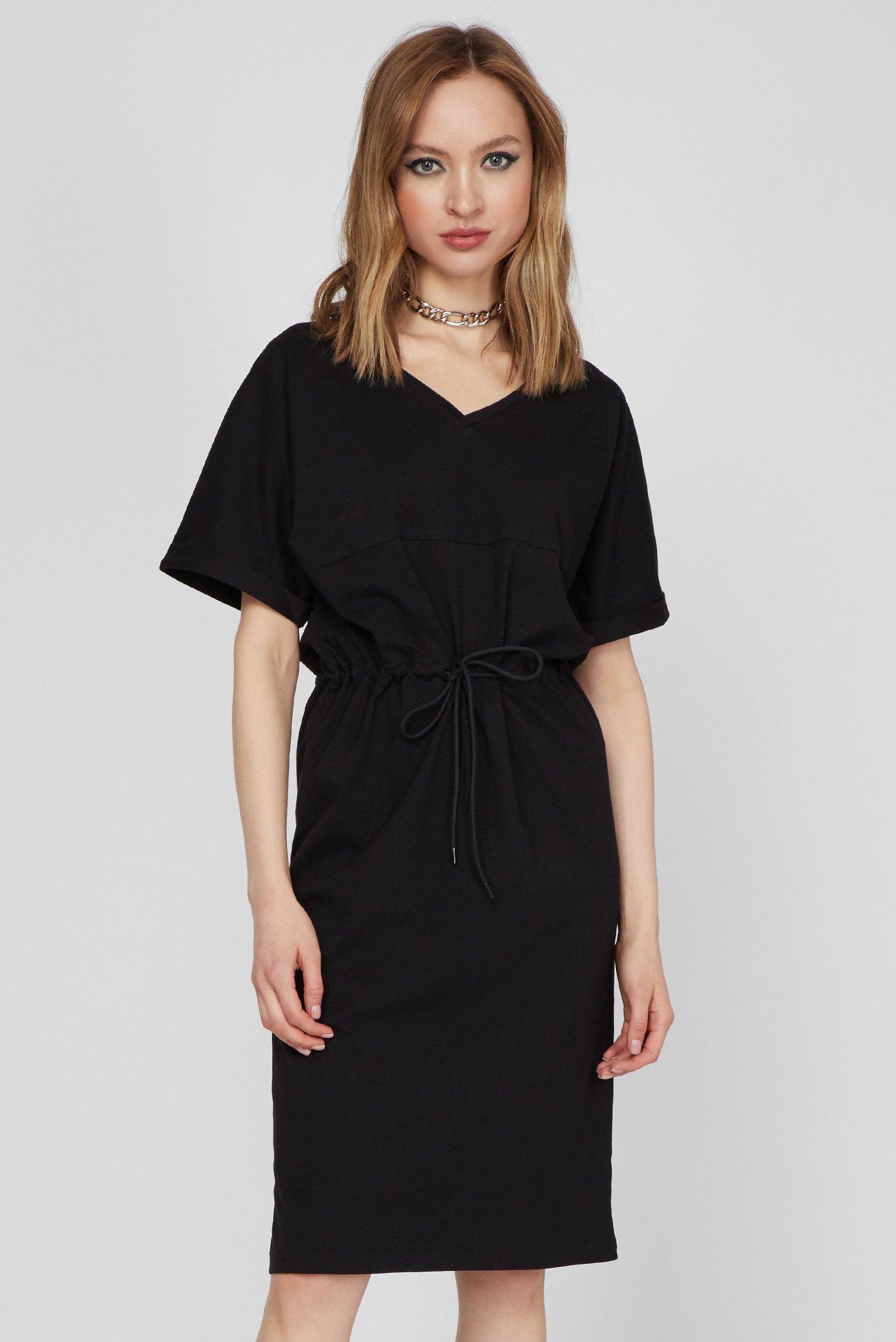 Женские черное платье Adjustable waist 1