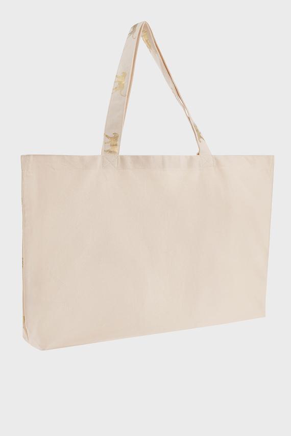 Женская бежевая сумка на плечо FOILED CHEETAH SHOPP