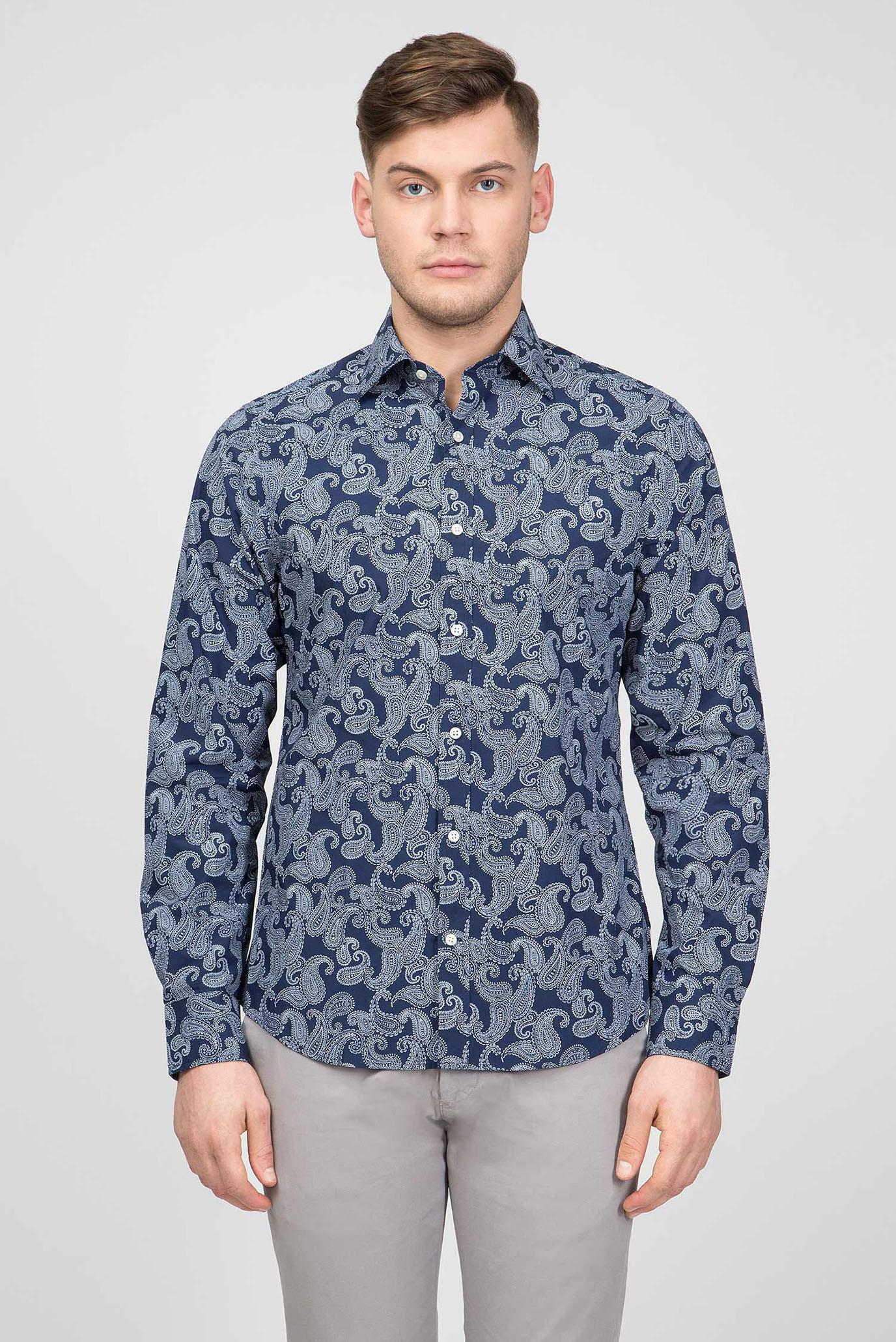 Чоловіча синя сорочка 1