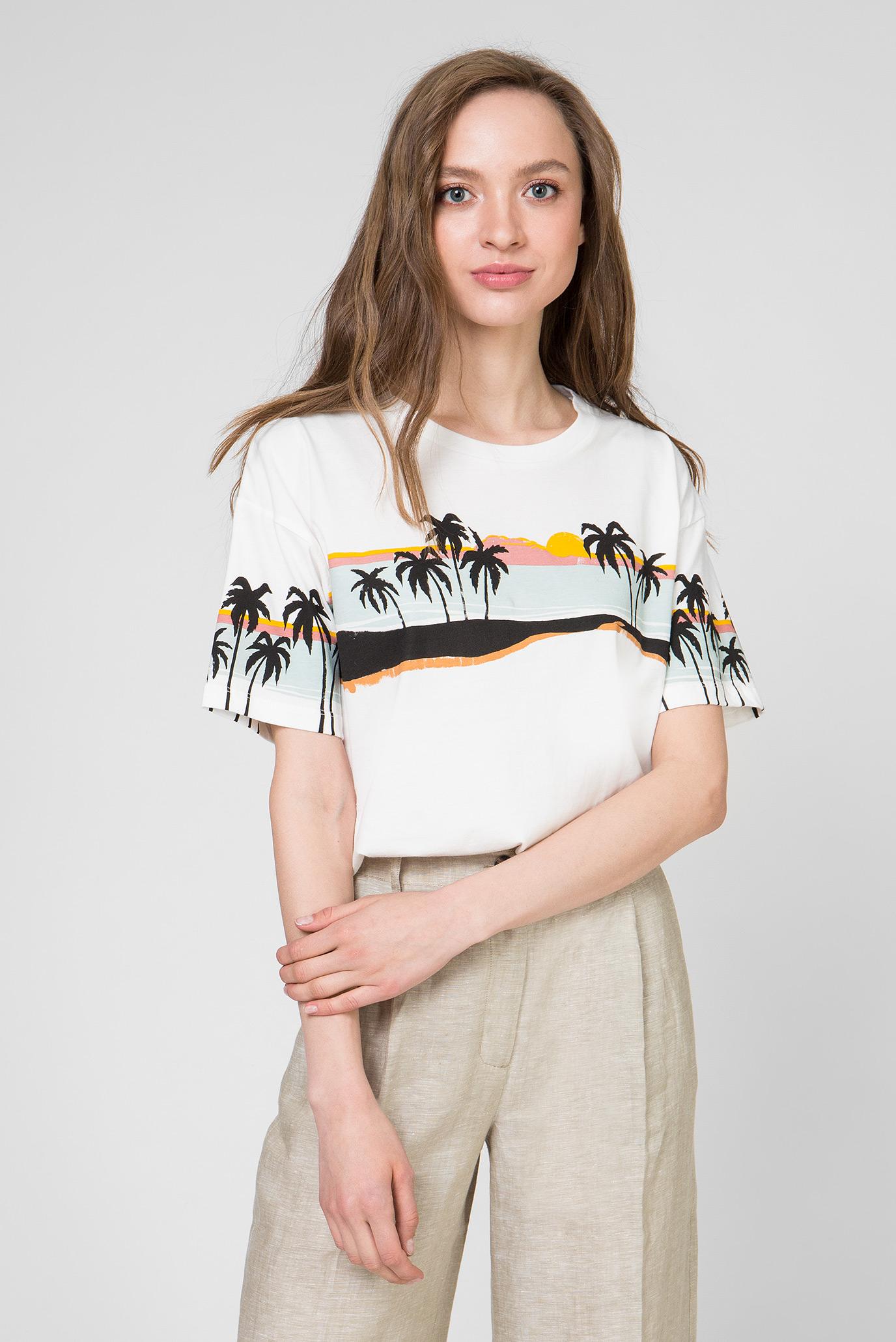 Женская белая футболка LARA 1