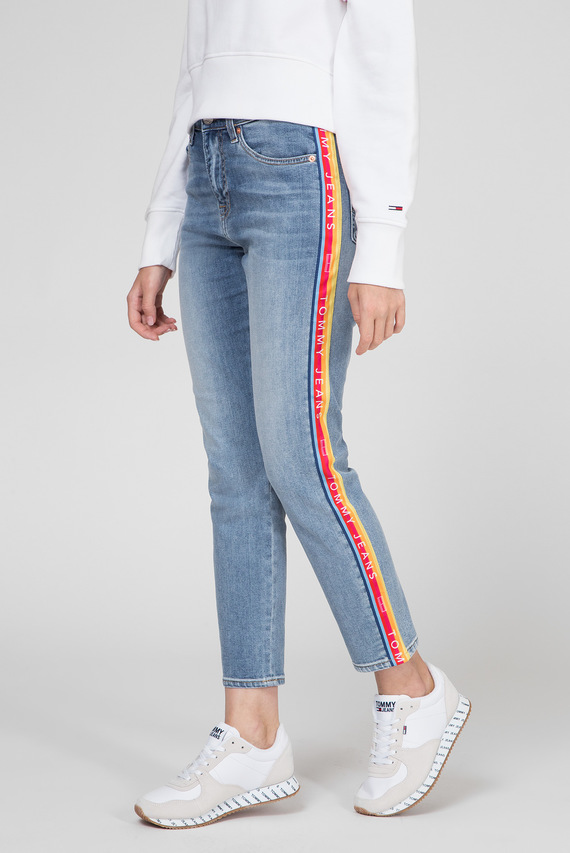 Женские голубые джинсы HIGH RISE SLIM IZZY RNBWM