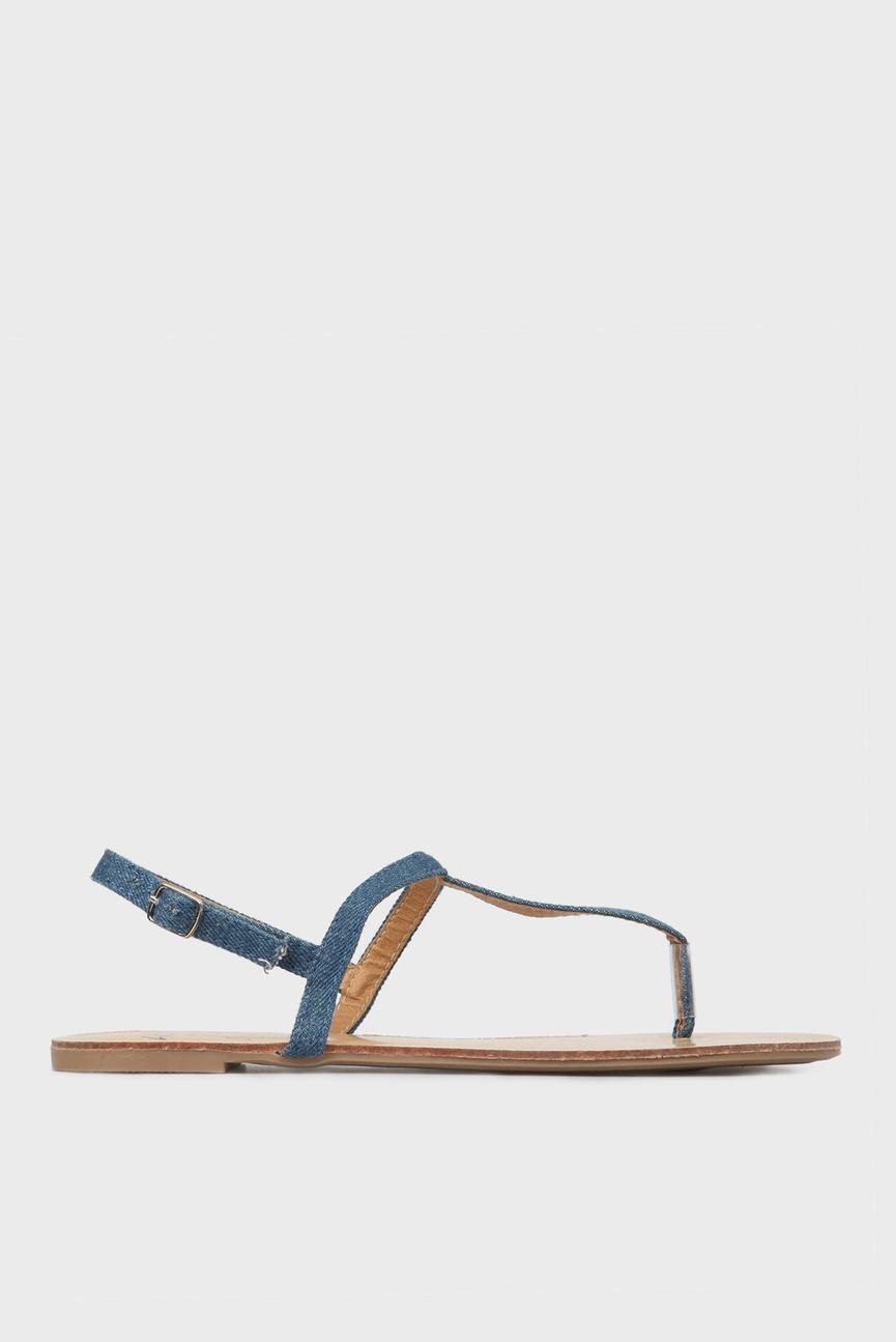 Женские джинсовые сандалии
