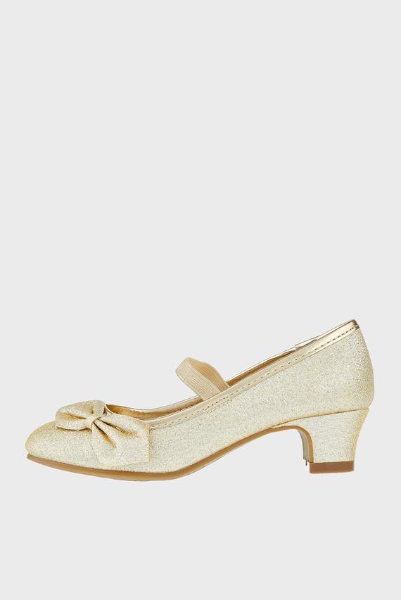Детские золотистые туфли GOLD BOW FLAMENCO