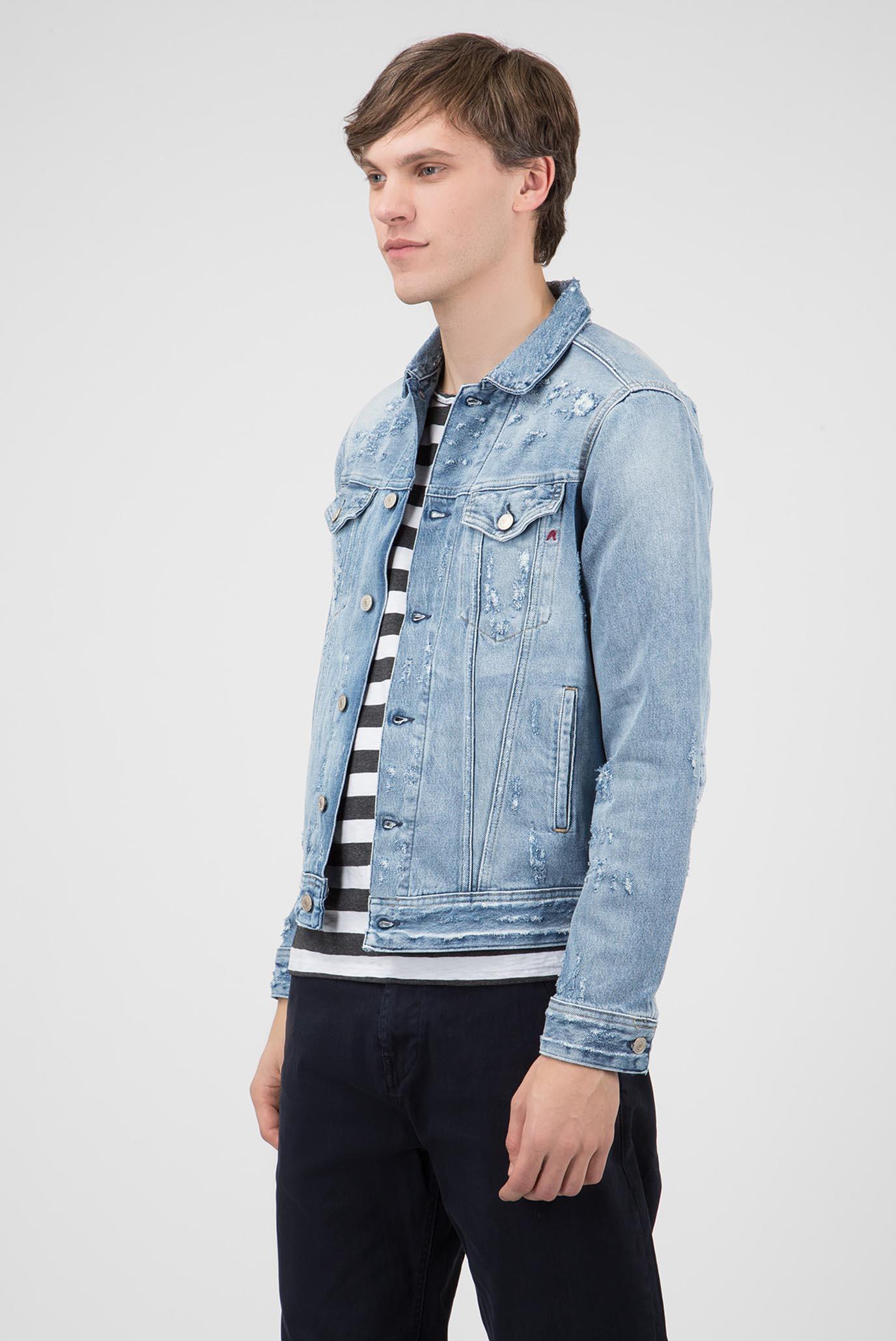 Мужская голубая джинсовая куртка Replay