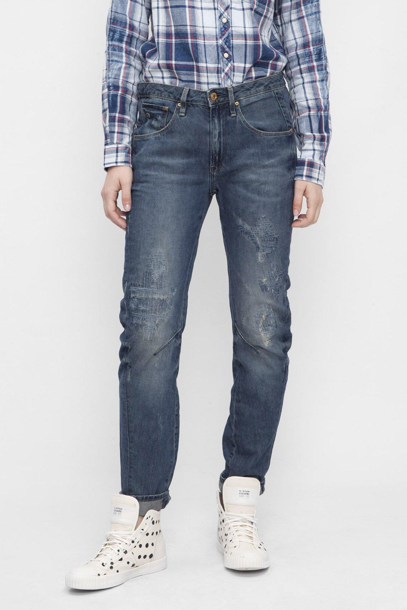 Женские темно-синие джинсы 3D Low Boyfriend 1
