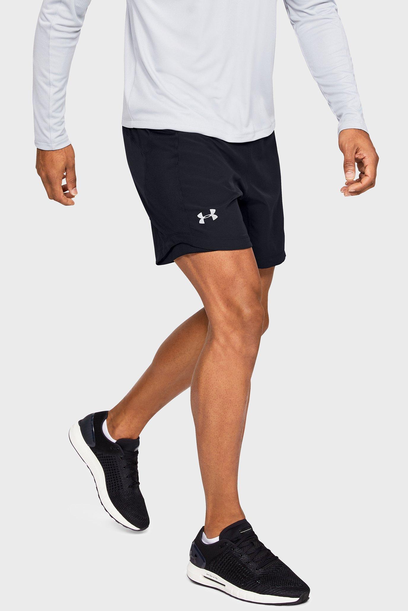 Мужские черные шорты UA SPEEDPOCKET QUALIFIER 7'' SHORT Under Armour